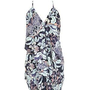 Olivacious cute flower vine print drape dress